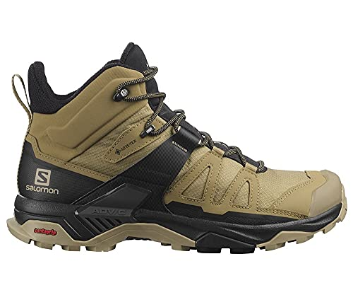 SALOMON X Ultra 4 Mid GTX, Zapatillas de Senderismo Hombre, Kelp/Black/Safari, 42 2/3 EU