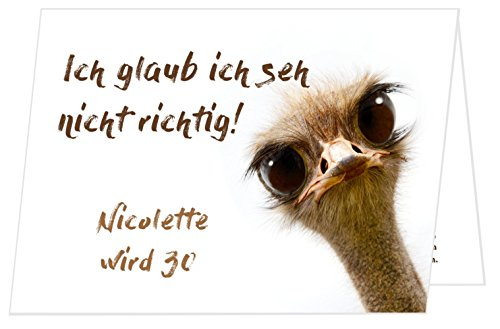 Unser-Festtag Schräger Vogel Geburtstagseinladungen runder Geburtstag lustig - mit Spruch - 40 Karten