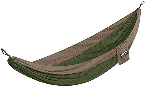 Eno Nest Outdoor Hammock - Green, Single / 1 One Person People Eagles Nest Outfitter SingleNest Camping Camp Adventure Bed Lightweight Travel Garden Tree Portable Beach Patio Sleep Furniture Kit