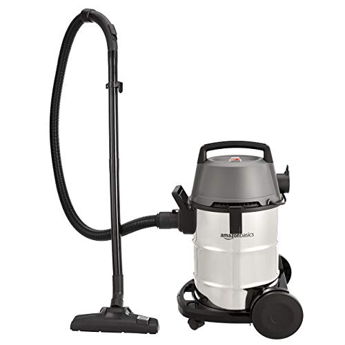 AmazonBasics Wet and Dry Vacuum Cleaner with Blower Function and Steel Drum