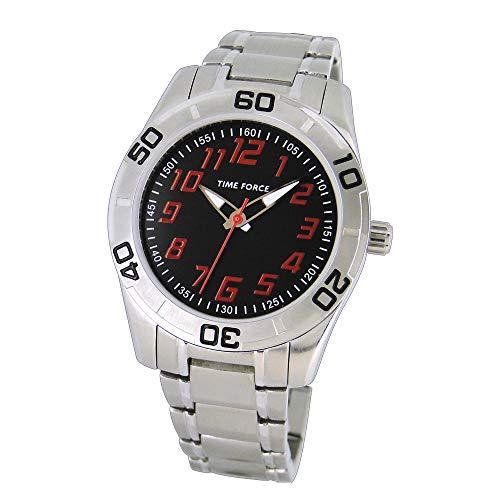 Time Force Reloj Analógico para Niños de Cuarzo con Correa en Acero Inoxidable TF4134B04M