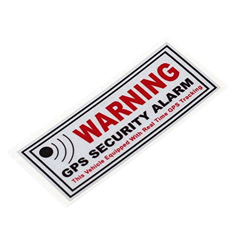2PCS Car Styling Vinyl Decals Warning GPS Tracking Alarm Security System Bike Motorcycle Sticker 10x4cm