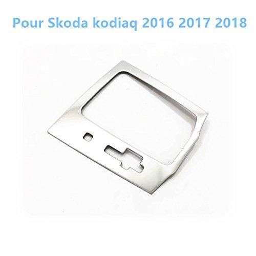 Flying High en Acier Inoxydable Intérieur Gear Shift Boîte Position Panneau Coque Trim 1 Lot pour Karoq 2017-2019 Accessoire