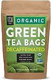Organic Green Tea Bags (Decaf) | 100 Tea Bags | Eco-Conscious Tea Bags in Kraft Bag | Raw from China | by FGO