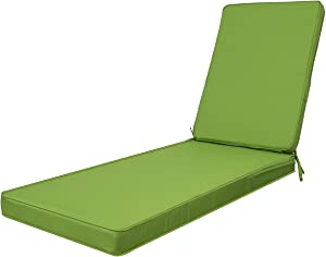 PALMTALL Outdoor/Indoor Water Resistant Chaise Lounge Cushion Replacement Patio Funiture Seat Cushion Size Large Green