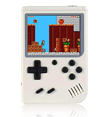 O RLY Handheld Spielkonsole Retro FC Plus Konsole 168 Retro Classic Spiel, 3 Zoll Bildschirm Mini Videospiel-Spieler (Sahne)