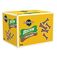 Pedigree Biscrok Gravy Bones are delightfully crunchy bone-shaped dog biscuits, optimum for training and rewarding time Choose Biscrok for a small and delicious snack designed with an extra crunch that dogs will love. Good for on the go due to their ...