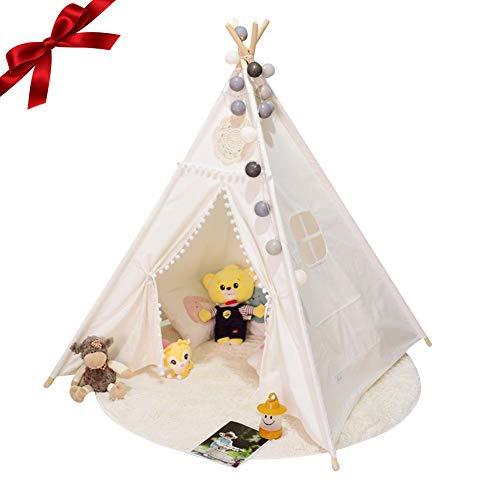 BESTLLE tente pour enfants indiens, tente pour enfant, chambre de bébé décoration intérieure fond enfant tente tipi jouets coussin toile de fond photo studio accessoires bébé nouveau-né nourrisson