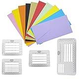 Topke Kit de 4pcs / Set Carta Craft Plantilla Transparente de direccionamiento Reglas Guía Plantillas Diario de Escritura a Mano de Sobres Multi-Uso