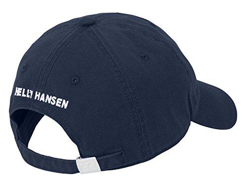 Helly Hansen Logo Cap Gorra Unisex 100% algodón para protegerse del Sol Durante Actividades al Aire Libre, Hombre, Azul (Navy), STD