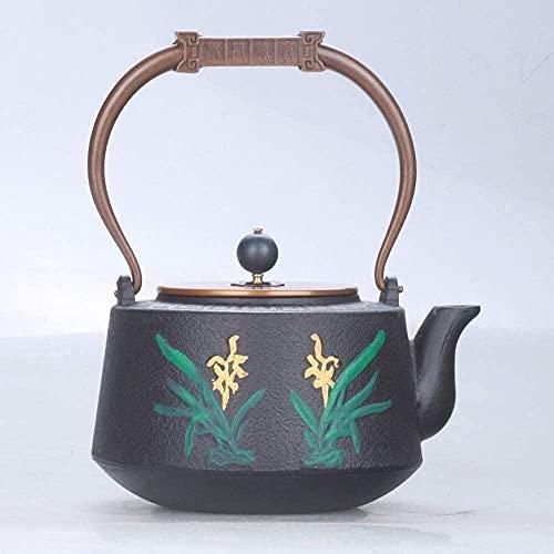 Teteros de té Conjuntos de té de hierro fundido Tetera Tetera de hierro Orquídea de hierro fundido Olla de hierro fundido Olla de hierro viejo hervida Tetera 1 2L Tetera de té