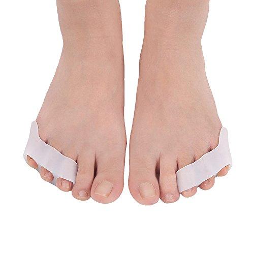 PBFONE Lot de 2 paires de séparateurs d'orteils en gel pour orteils
