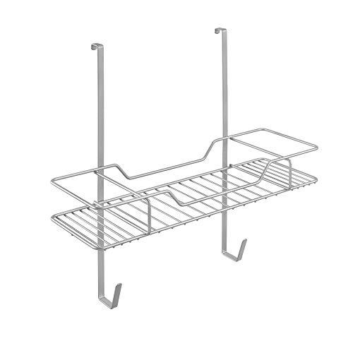Metaltex deurrek Irony voor strijkplank en strijkaccessoires, draad polytherm gecoat, zilver, 19,8 x 49,2 x 44 cm