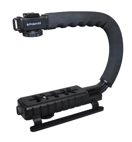 Polaroid Sure-GRIP Professional Camera / Camcorder Action Stabilizing Handle Mount For The Sony Alpha NEX-C3, 7, 6, 5N, 5R, 5T, 5, 3, 3N, F3, SLT-A33, A35, A37, A55, A57, A58, A65, A77, A99, DSLR A100, A200, A230, A290, A300, A330, A350, A380, A390, A450,