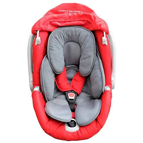 Maxuals® Universal-Sitzverkleinerer für Kinderwagen, Babyschale, Kissen, Autositz, atmungsaktiv, leicht, Unterstützung, Kopfschutz für Babys 0-12 Monate, 2. Generation, Sommer und Winter, hypoallergen