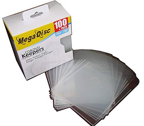 Megadisc Cd / DVD Plastic Keepers Clear 100 Pk (Memorex Similar Quality)