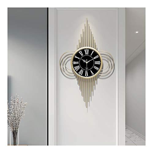 Wandklok voor de woonkamer, slaapkamer, kantoor, stille wandklok, moderne creatieve Amerikaanse decoratie, werkt op batterijen, wandklokken metaal 37.5cm*80cm B