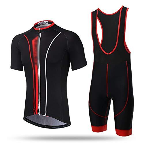 GONGMICF Traje Ciclismo,Hombres Verano MTB + Culotte Pantalones Cortos con 3D Acolchado...