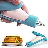 Churrera domestica profesional para churros y porras - Manga pastelera adaptable a presión- Churreras para churros domesticas - Maquina de hacer churros, galletas y postres