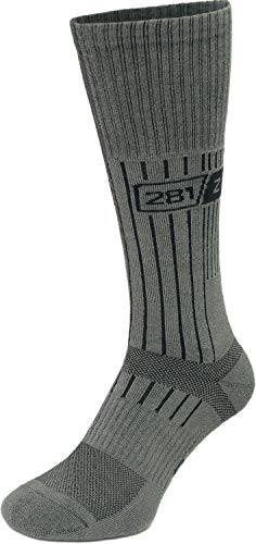 281Z Military Boot Socks - Tactical Trekking Hiking - Outdoor Athletic Sport (Foliage Green)(Large 1 Pair)
