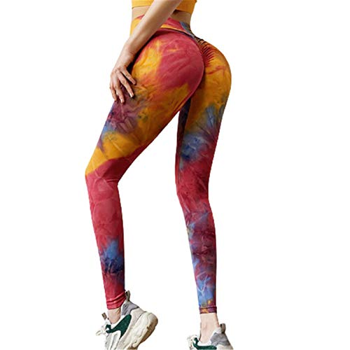 Pantalones De Yoga Estampados Populares para Mujeres, Mallas De Ejercicio Físico, Pantalones De Baile Ajustados, Tela De Poliéster, Cómodos Y Ajustados, Elásticos Y Op(Size:Extragrande,Color:Gules)