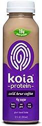 Koia Protein - Ready To Drink Plant Protein Shake (12 oz) - Cold Brew Coffee - Dairy Free, Gluten Fr