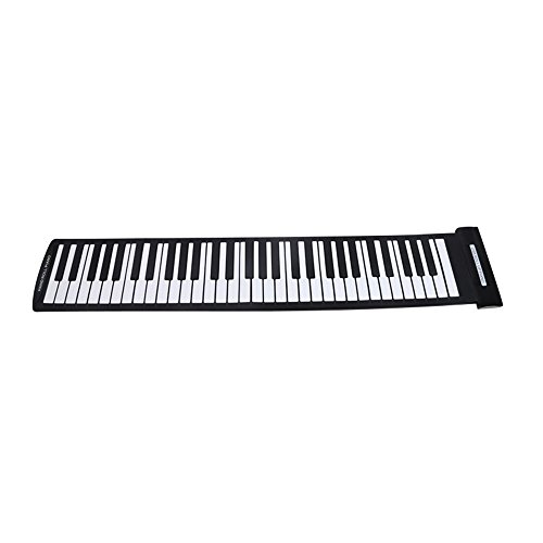 TOOGOO Portatil Piano enrollable flexible USB de 61 teclas MIDI Piano...