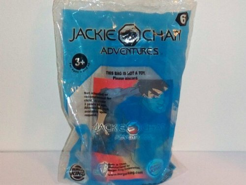 2001 Burger King Kid's Club Toy: Jackie Chan Adventures Stunt Playset- Chow's Trash Can Collision #6
