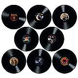 Discos de Vinilo para decoración de Pared, 8 Piezas tamaño 12 Pulgadas, para Decorar Fiestas de Rock música, cumpleaños Bares Pubs Fiestas temáticas de los 70s 80s 90s Retro Vintage Old School
