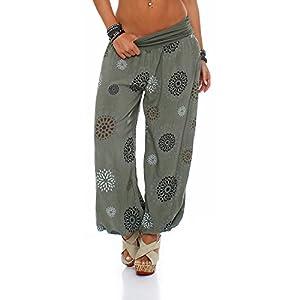 ZARMEXX Señoras de los bloomers de los pantalones pantalones harén pantalones de verano por toda impresión One Size | DeHippies.com