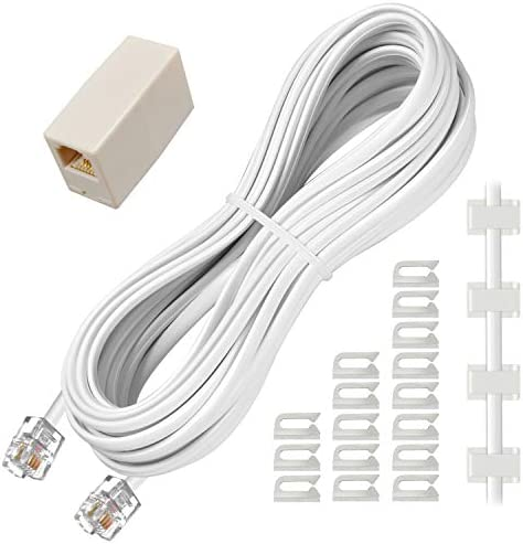 Phone Extension Cord 25 Ft, Telephone Ca