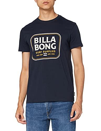 BILLABONG Jackson SS Camiseta, Azul (Navy 21), One Size (Tamaño del Fabricante: XL) para Hombre