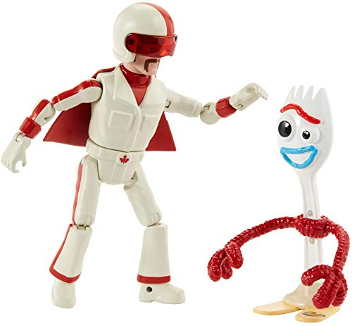 Toy Story- Pixar Forky e Duke Caboom, Due Personaggi Snodati 18 cm, Dimensioni e Proporzioni Come nel Film, per Bambini da 3+ Anni, GGX29