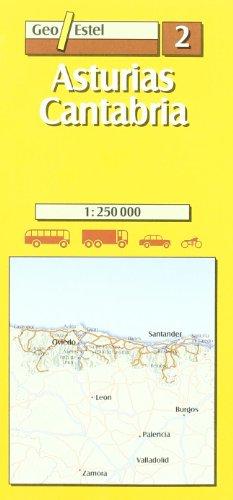 Asturias-Cantabria (Mapas de carreteras. Comunidades autónomas y regio)