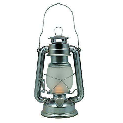Megaprom Retro 25cm Sturmlaterne für Petroleum oder Lampenöl | Petroleumlampe mit Tragebügel | Tischlampe | Öllaterne | Sturmlampe | Öllampe inkl. Docht