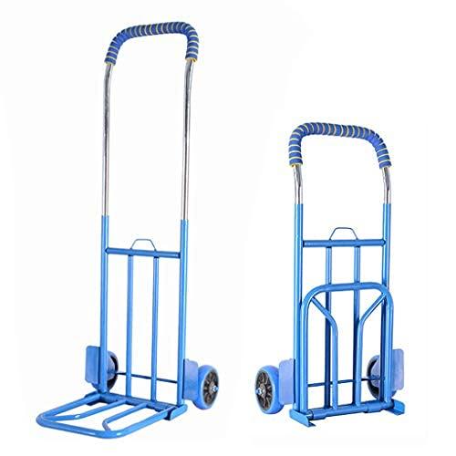 ZGW Carretilla de carga de 150 kg, resistente al desgaste, carro utilitario compacto y ligero para equipaje, compras personales, viajes, movimiento automático y uso en la oficina, plegable portátil