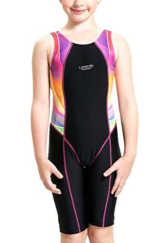 (エスライフ)S-Lifeeling 水着 ガールズ 競泳水着 子供 女の子 キッズ トレーニング用 体型カバー 温泉 海水浴 2点セット 連体 無袖 パンツ かわいい ピンク ブルー