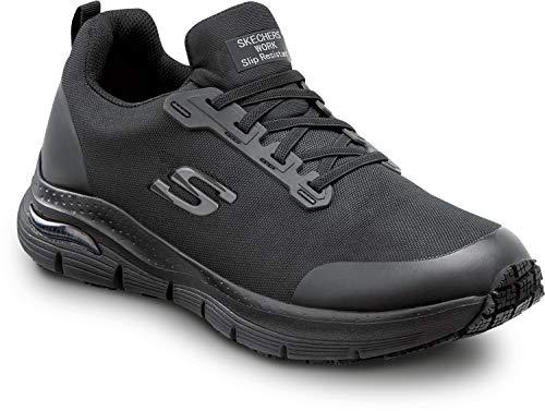 Skechers Arch Fit Work Jake, Men's, Black, Soft Toe, Slip Resistant, Low Athletic Slip On Work Shoe (11.0 M)