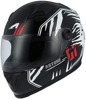 Astone Helmets - Casque intégral GT2 Graphic Predator - Casque idéal milieu urbain - Casque intégral en polycarbonate - Black/white XL