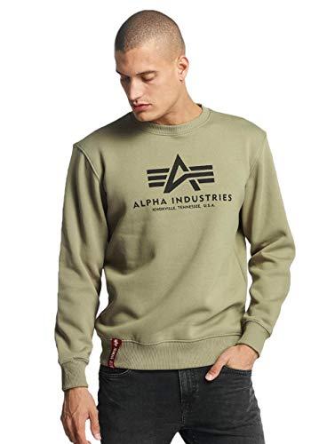 ALPHA INDUSTRIES Herren 178302 Sweatshirt, Olive, S Regular