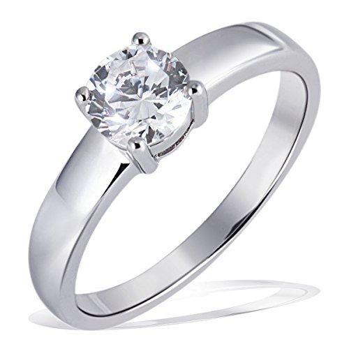 Goldmaid Damen-Ring Silber 925 1 grosser Zirkonia Solitär Grösse 58