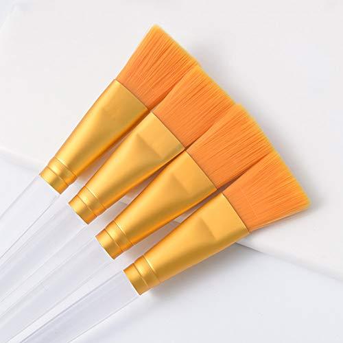 WWLZ Brosse Applicateur de Maquillage pour Le Traitement du Visage Masque de Boue Brosse d'application avec poignée en Plastique Transparent Soins de la Peau