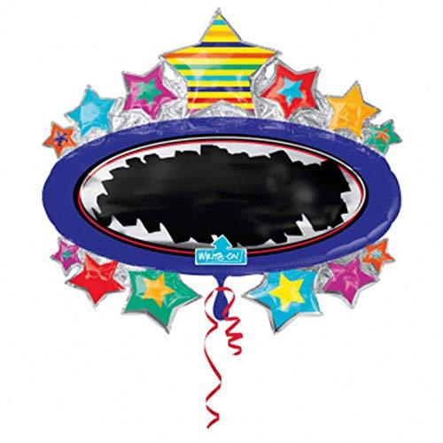 Balloonarama - Write on Balloon - XXL Folienballon zum selbst beschriften - Las Vegas Motiv - 78x71cm Super Shape - Geschenkideen zum Geburtstag Valentinstag Hochzeit, Party Dekoration, Mehrfarbig