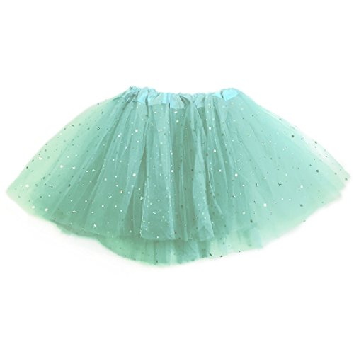 Gone For a Run Runners Premium Tutu Lightweight   One Size Fits Most   Colorful Running Skirts   Teal Sparkle