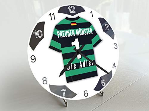 FanPlastic Deutschland 3. Liga Fußball-Uhr – alle Teams, Fußball-Uhr, Design !, Acryl, Preußen Münster