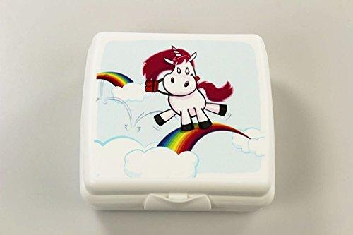 TUPPERWARE To Go Sandwich-Box weiß Einhorn Pausenbox Brotbox Brotbehälter Schule P 26993