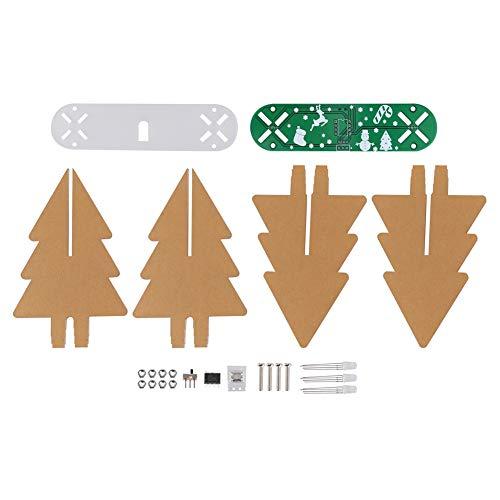 Kit de Circuito LED de Navidad, Kits de Bricolaje Kit de Circuito de árbol de Navidad, LED Intermitente para Fiestas, Habitaciones Infantiles, Adornos navideños