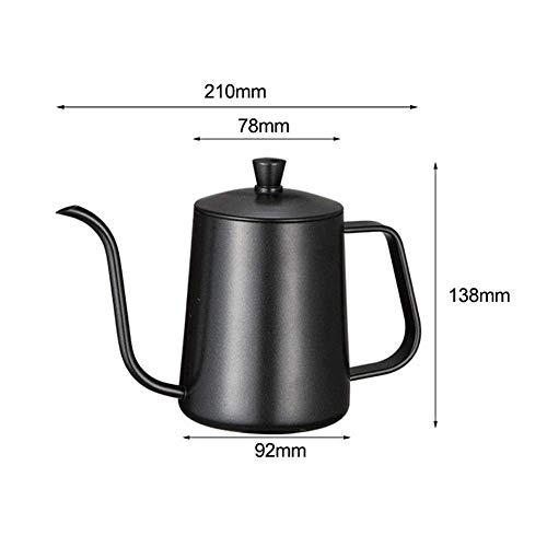 NOSSON Edelstahl Schwanenhals Kaffeekessel Auslauf Tropfkanne Über den Wasserkocher gießen Lange schmale Mund Kaffeekanne Teekanne 600ML Für Kaffeesaft Milch Tee Getränke
