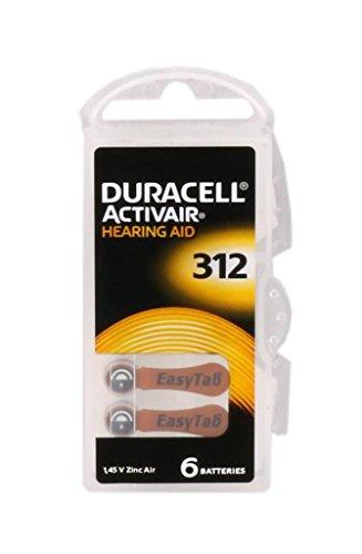 Duracell Activair Hörgerätebatterien 120 Stück Typ 312