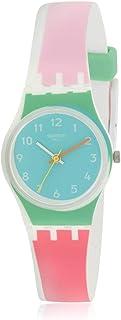 Swatch Women's De Travers Quartz Watch with Silicone Strap, Multi, 15 (Model: LW146)